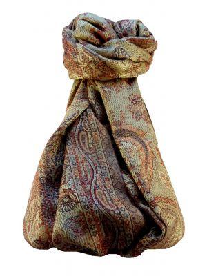 Mens Jamawar Premium Silk Scarf Pattern 9779 by Pashmina & Silk