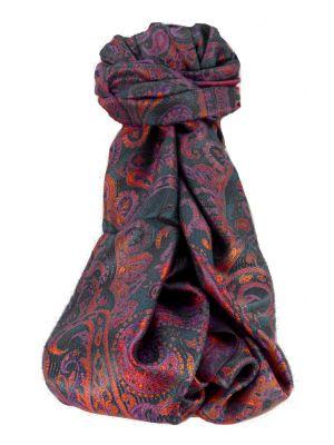 Mens Jamawar Premium Silk Scarf Pattern 9809 by Pashmina & Silk