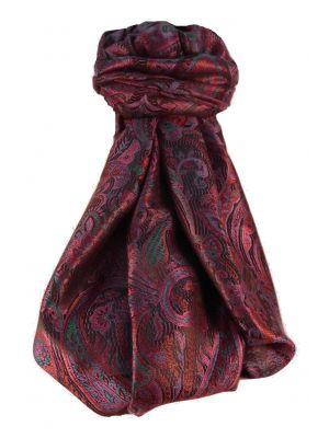 Mens Jamawar Premium Silk Scarf Pattern 9939 by Pashmina & Silk