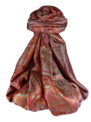 Mens Jamawar Premium Silk Scarf Pattern 0119 by Pashmina & Silk