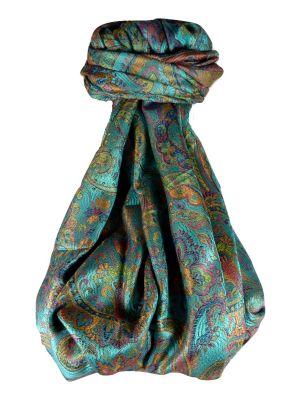 Mens Jamawar Premium Silk Scarf Pattern 0249 by Pashmina & Silk