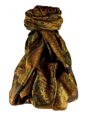 Mens Jamawar Premium Silk Scarf Pattern 7799 by Pashmina & Silk