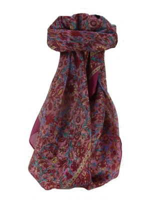 Mulberry Silk Traditional Square Scarf Dula Violet by Pashmina & Silk