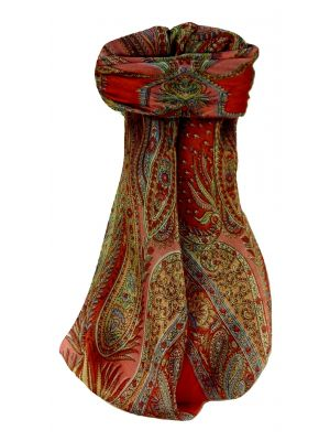 Mulberry Silk Traditional Square Scarf Chatur Scarlet by Pashmina & Silk
