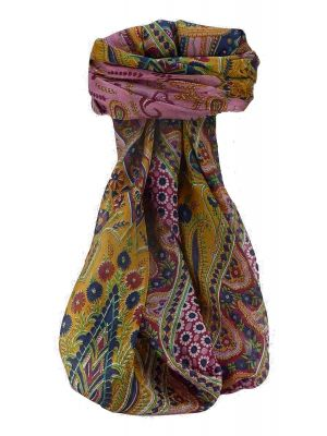 Mulberry Silk Traditional Square Scarf Marar Wine by Pashmina & Silk
