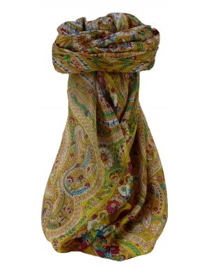 Mulberry Silk Traditional Square Scarf Kuldeep Caramel by Pashmina & Silk