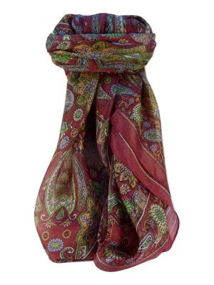 Mulberry Silk Traditional Square Scarf Ravi Rose by Pashmina & Silk