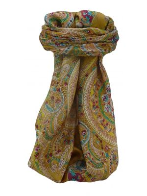 Mulberry Silk Traditional Square Scarf Ridan Caramel by Pashmina & Silk