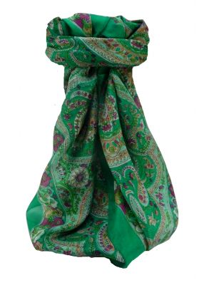Mulberry Silk Traditional Square Scarf Ridan Jade by Pashmina & Silk