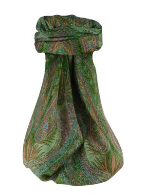 Mulberry Silk Traditional Square Scarf Sariz Sage by Pashmina & Silk