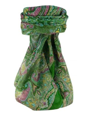 Mulberry Silk Traditional Square Scarf Shruti Sage by Pashmina & Silk