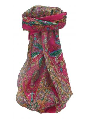 Mulberry Silk Traditional Square Scarf Sunil Pink by Pashmina & Silk