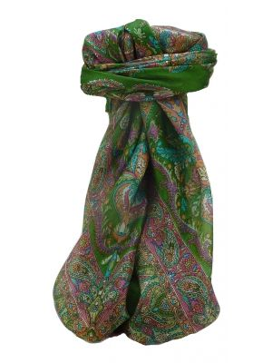 Mulberry Silk Traditional Square Scarf Sunil Sage by Pashmina & Silk
