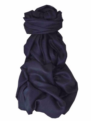 Pashtoosh Luxury Cashmere Stole Dark Blue by Pashmina & Silk