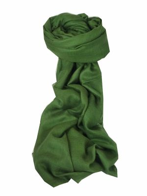 Pashtoosh Luxury Cashmere Stole Moss by Pashmina & Silk