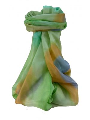 Mulberry Silk Contemporary Long Scarf Addi Green by Pashmina & Silk