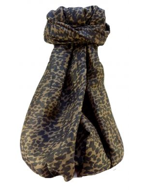 Mulberry Silk Contemporary Long Scarf Artisa Chestnut by Pashmina & Silk