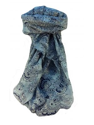 Mulberry Silk Contemporary Long Scarf Arvind Blue by Pashmina & Silk
