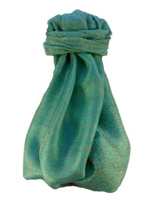 Mulberry Silk Contemporary Long Scarf Halay Teal by Pashmina & Silk