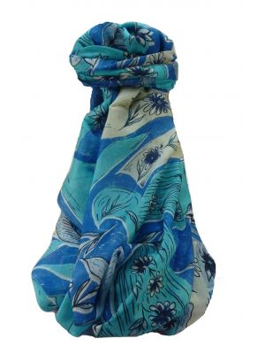 Mulberry Silk Contemporary Long Scarf Navendra Blue by Pashmina & Silk