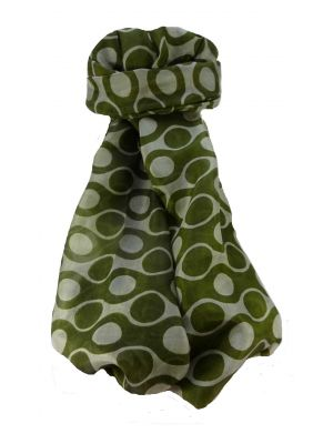 Mulberry Silk Contemporary Long Scarf Mandra Olive by Pashmina & Silk