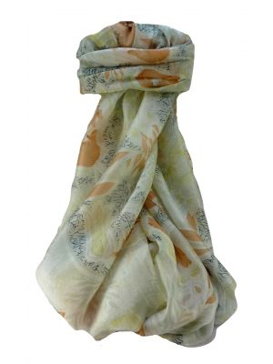 Mulberry Silk Contemporary Long Scarf Mohan Nectarine by Pashmina & Silk