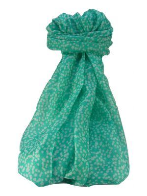 Mulberry Silk Contemporary Long Scarf Mirza Aqua by Pashmina & Silk