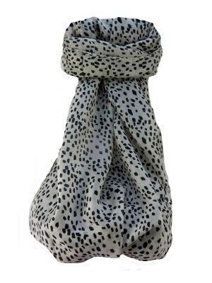 Mulberry Silk Contemporary Long Scarf Mirza B&W by Pashmina & Silk