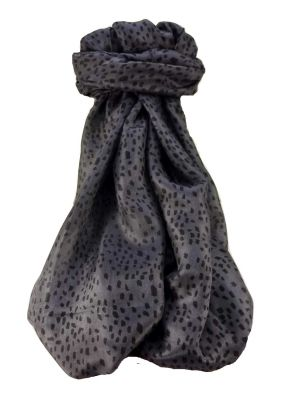 Mulberry Silk Contemporary Long Scarf Mirza Charcoal by Pashmina & Silk