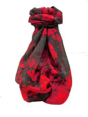 Mulberry Silk Contemporary Long Scarf Pingala Scarlet by Pashmina & Silk