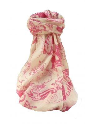 Mulberry Silk Contemporary Long Scarf Pravanda Pink by Pashmina & Silk