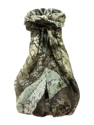 Mulberry Silk Contemporary Long Scarf Praveen Charcoal by Pashmina & Silk
