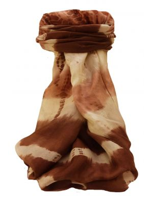 Mulberry Silk Contemporary Long Scarf Raman Chestnut by Pashmina & Silk