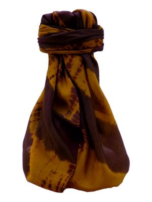 Mulberry Silk Contemporary Long Scarf Raman Gold by Pashmina & Silk