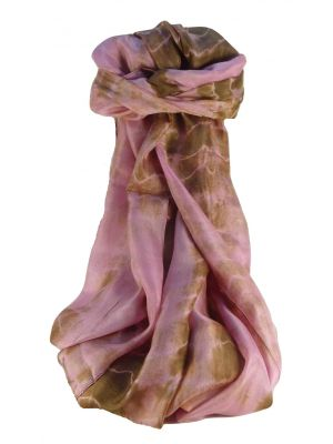 Mulberry Silk Contemporary Long Scarf Raman Rose by Pashmina & Silk
