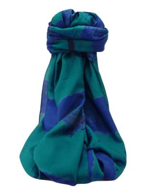 Mulberry Silk Contemporary Long Scarf Raman Aqua by Pashmina & Silk