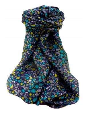 Mulberry Silk Contemporary Long Scarf Sandeep Blue by Pashmina & Silk