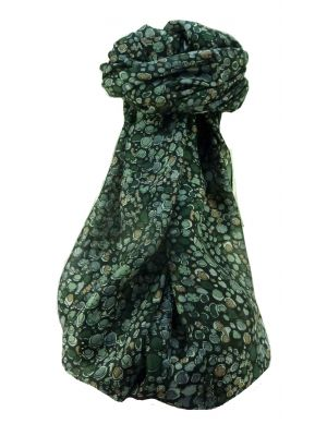 Mulberry Silk Contemporary Long Scarf Sandeep Green by Pashmina & Silk