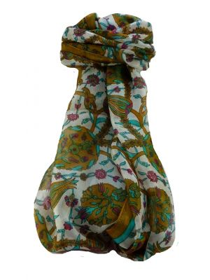 Mulberry Silk Contemporary Long Scarf Satya Chestnut by Pashmina & Silk