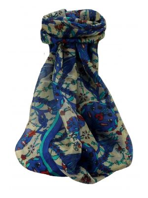Mulberry Silk Contemporary Long Scarf Satya Blue by Pashmina & Silk