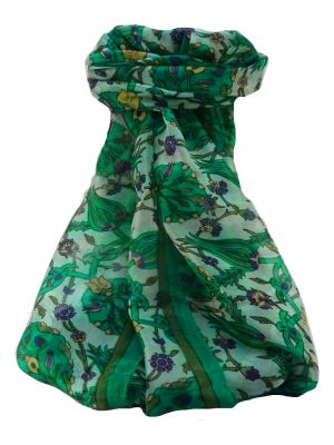 Mulberry Silk Contemporary Long Scarf Satya Jade by Pashmina & Silk