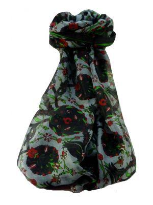 Mulberry Silk Contemporary Long Scarf Satya Black by Pashmina & Silk