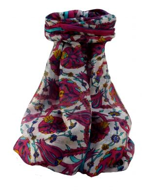Mulberry Silk Contemporary Long Scarf Satya Pink by Pashmina & Silk
