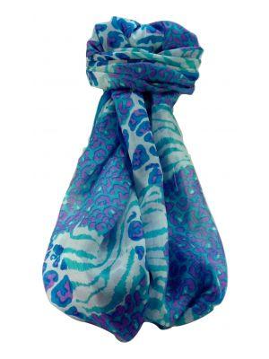 Mulberry Silk Contemporary Long Scarf Sha Aqua by Pashmina & Silk