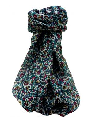 Mulberry Silk Contemporary Long Scarf Shankar Multi Coloured by Pashmina & Silk