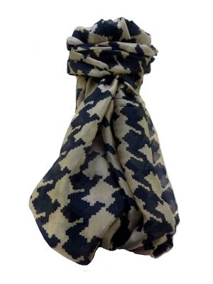 Mulberry Silk Contemporary Long Scarf Sunder Black by Pashmina & Silk