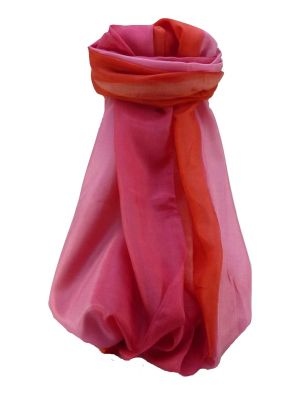 Mulberry Silk Contemporary Long Scarf Sunil Pink by Pashmina & Silk