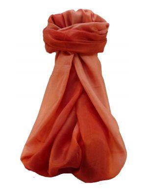 Mulberry Silk Contemporary Long Scarf Sunil Peach by Pashmina & Silk
