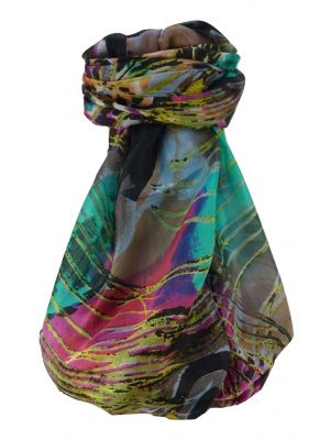 Mulberry Silk Contemporary Long Scarf Venkata Pink by Pashmina & Silk