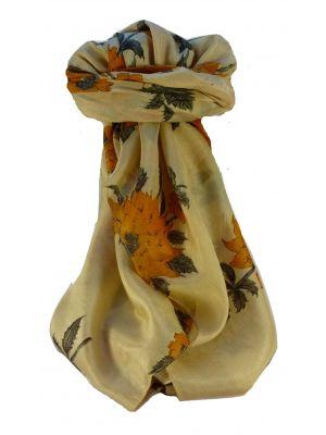 Mulberry Silk Contemporary Long Scarf Javinder Tangerine by Pashmina & Silk